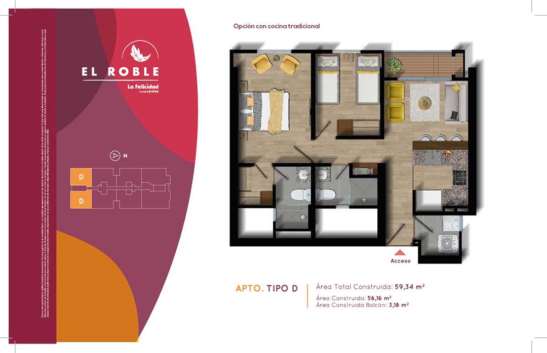 El Roble - Constructora colpatria - Plano Apto