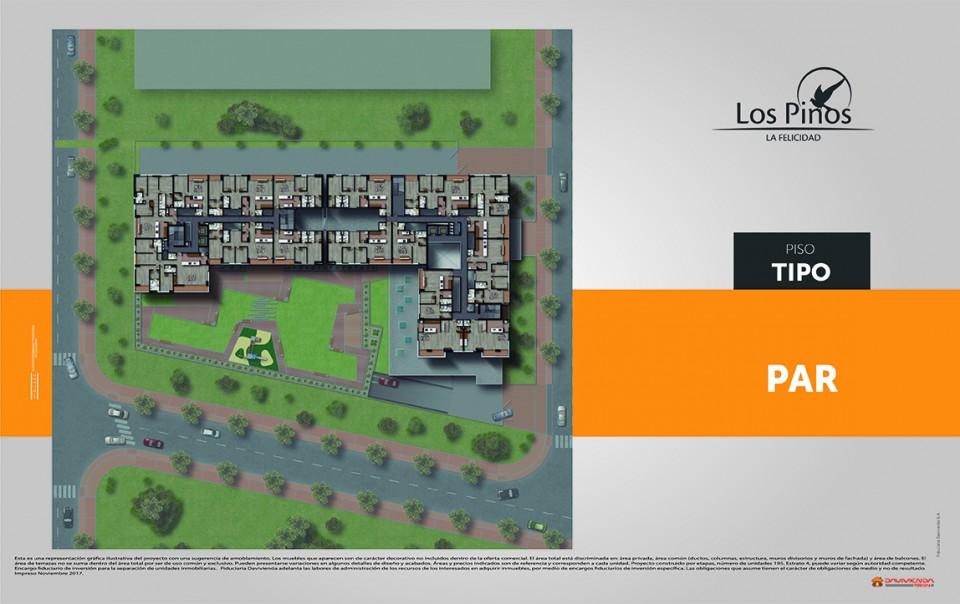 Los Pinos - Constructora colpatria - Plano Apto